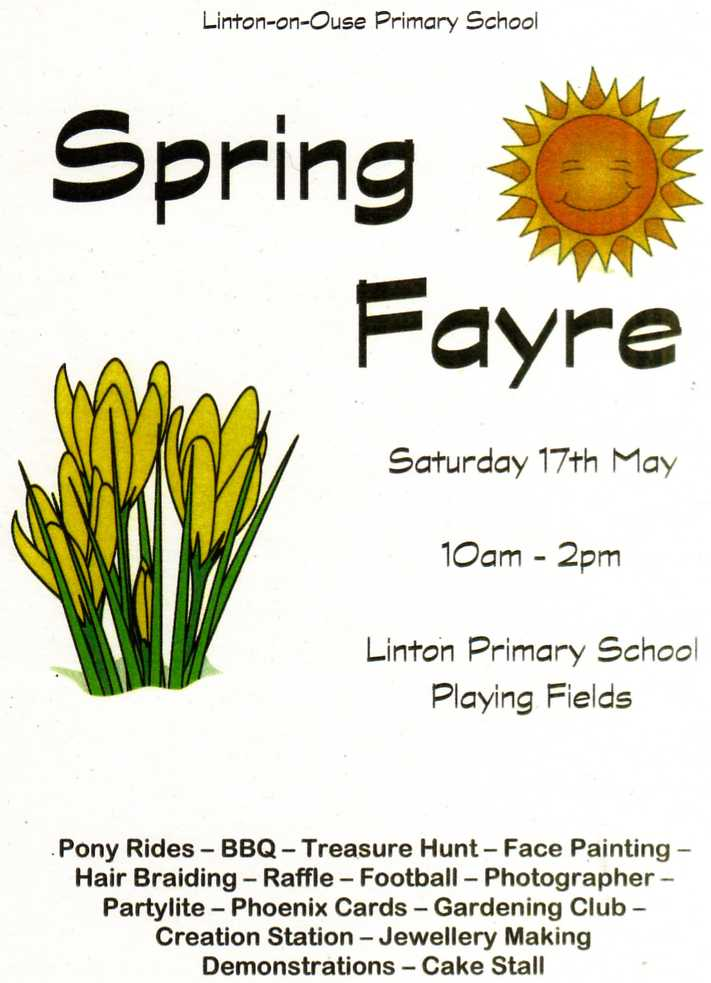 Spring Fayre Poster 2014